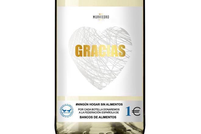 GRACIAS, los vinos solidarios de Murviedro para que no haya NINGUNA FAMILIA SIN ALIMENTOS
