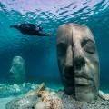 La máscara del mar en el fondo del Mediterráneo, Jason de Caires Taylor, museo subacuático, Cannes