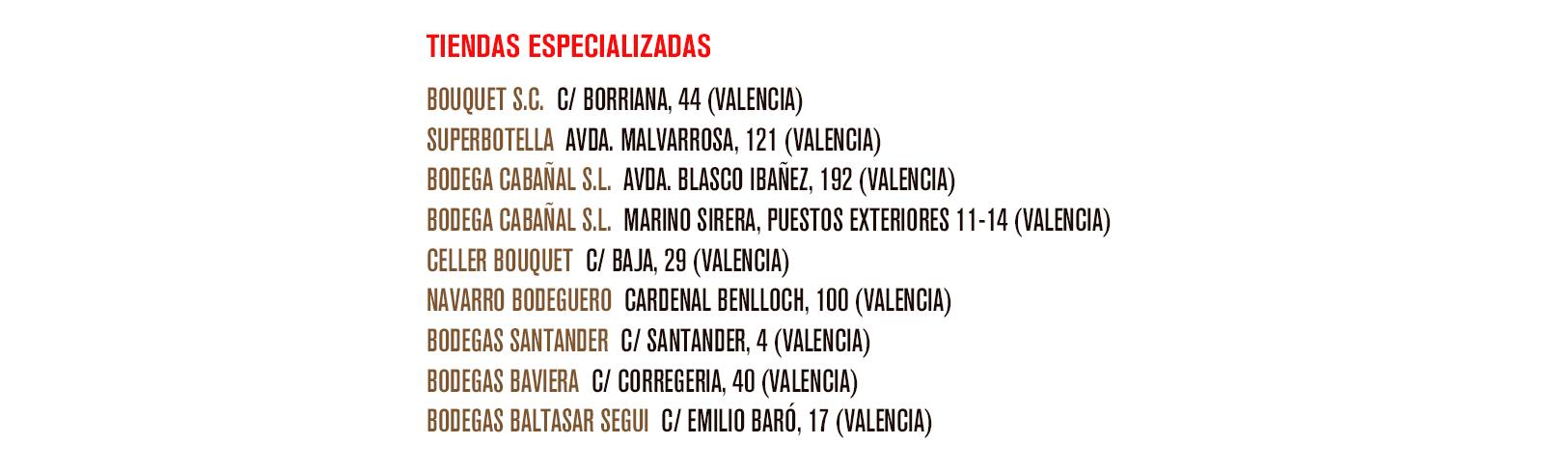 Tiendas Especializadas adheridos a la campaña Llévate un Valencia y la compra gratis